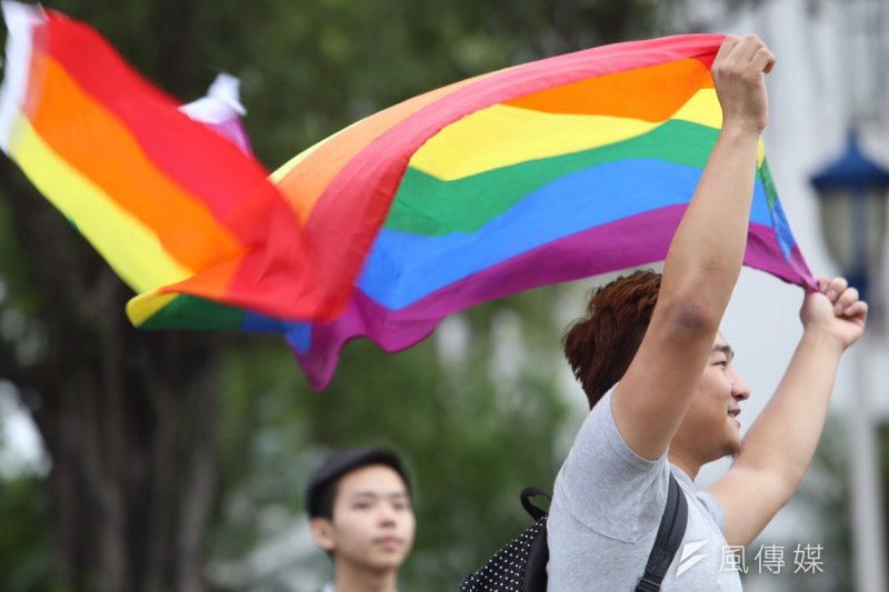 有多少人在同志大遊行裡,爭一個最基本的權利?(林韶安攝)