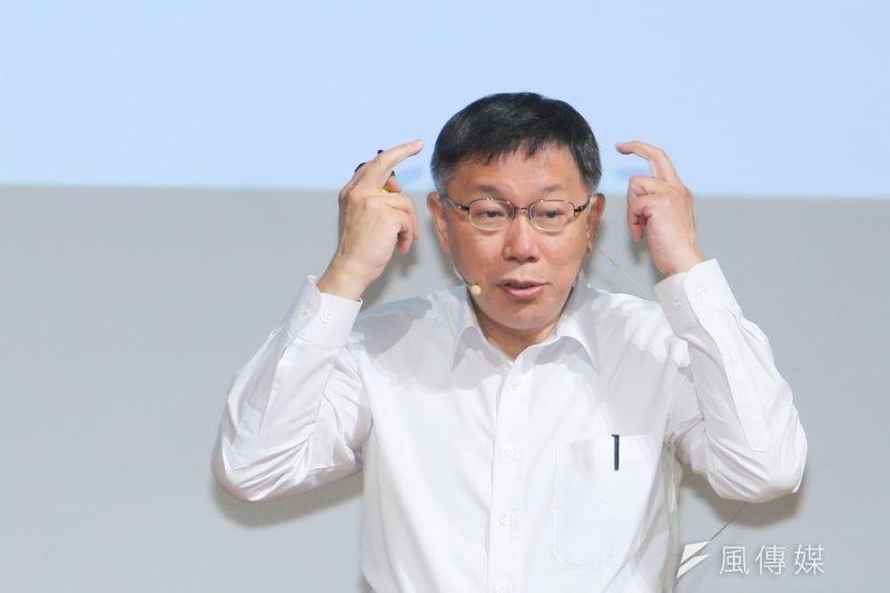 台北市長柯文哲表示,馬習會的重點是在將來雙方會如何實際互動。(資料照片,陳明仁攝)
