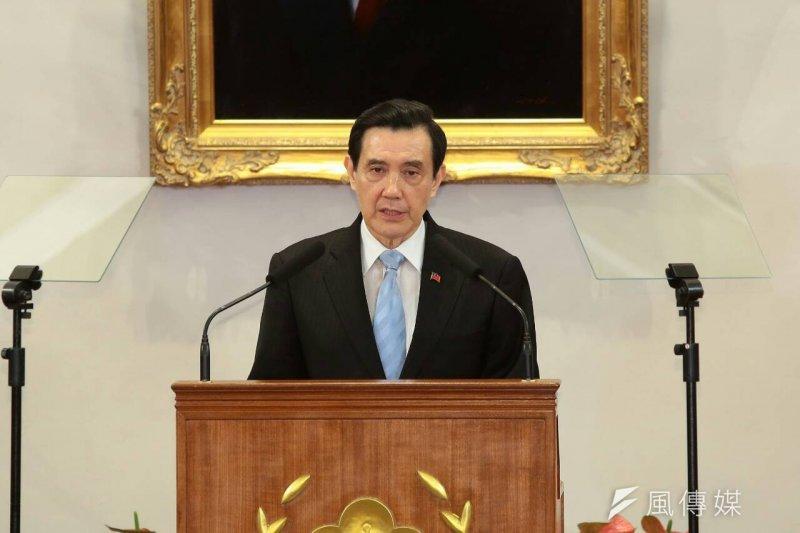 總統馬英九舉行記者會。(顏麟宇攝)