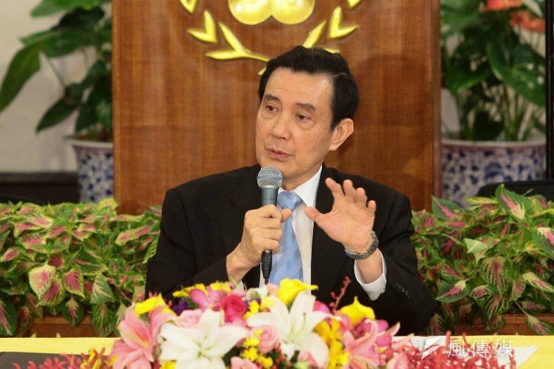總統馬英九主持中外記者會談馬習會。(顏麟宇攝)
