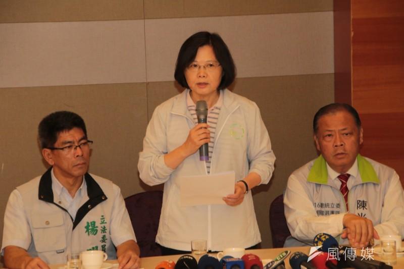 民進黨黨主席蔡英文在澎湖回應馬習會。(民進黨中央提供)