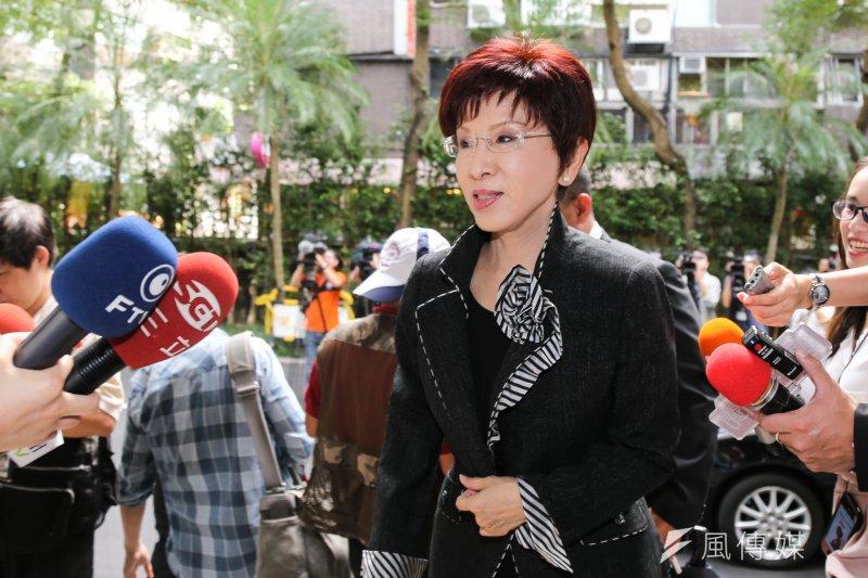 洪秀柱提到,「歷史可以證明我講的話有多麼對,我講的對台灣才是正確的路」,大家也都在看。(陳明仁攝)