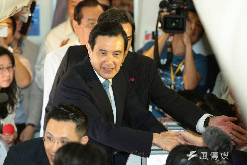2015年11月7日馬習會,馬英九總統飛抵新加坡樟宜國際機場(顏麟宇攝)