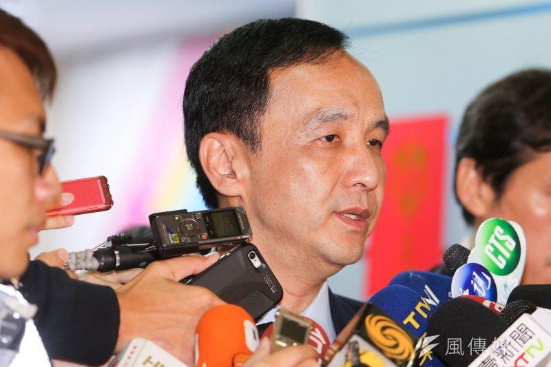 國民黨總統參選人、國民黨主席朱立倫(陳明仁攝)