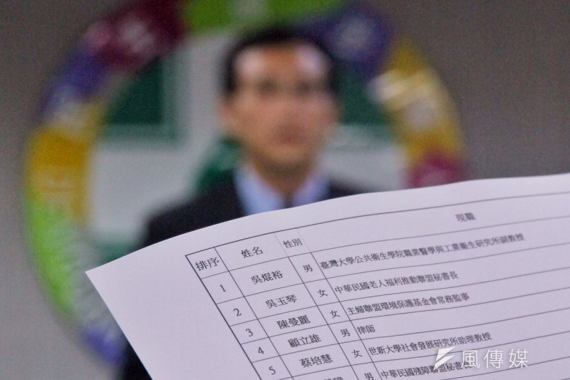 -民進黨公布不分區立委名單,頗受好評。(曾原信攝)