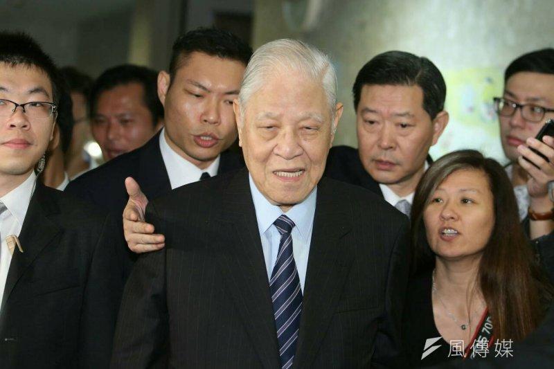 李登輝出席台灣之友會「改變,讓台灣不一樣」活動(陳明仁攝)