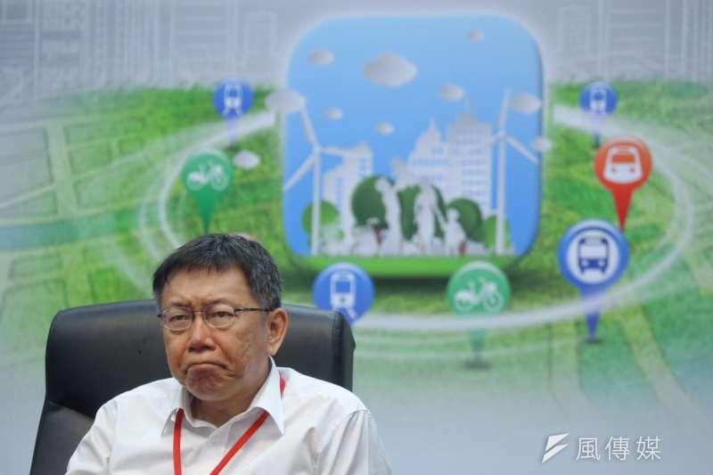 台北市長柯文哲當年以「開放政府,全民參與」作競選主軸,然而,近期學界全覆蓋地耙疏北市開放資訊平台「Data. Taipei」資料庫,將資料的開放品質用國際指標分5星等,發現北市開放的資料全數落在低端的1-3星,6成資料更新時程為「不定期」。(資料照,蔡耀徵攝)