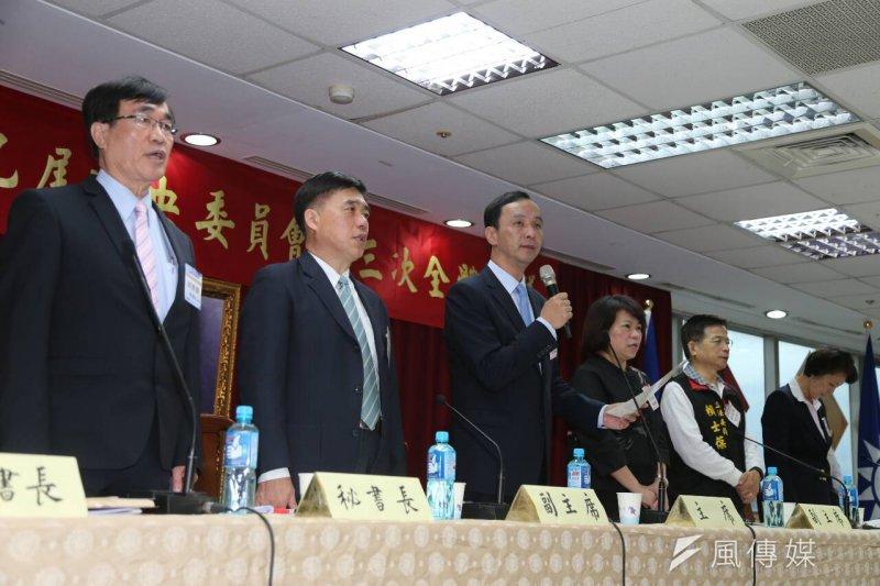 國民黨召開會議通過不分區名單,不過言份名單外界的評價顯然不佳。(陳明仁攝)