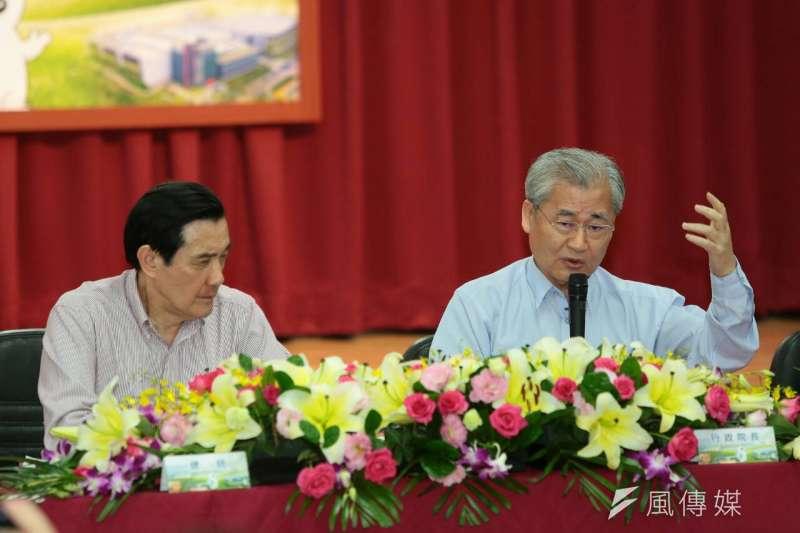 國民黨在總統選舉大敗,行政院長毛治國宣布內閣總辭。(顏麟宇攝)