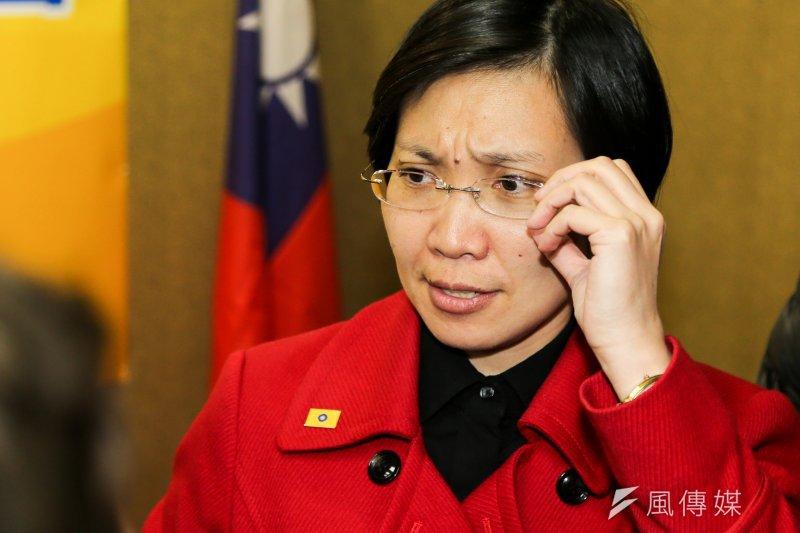 民國黨黨主席徐欣瑩之前請辭,但被該黨中常會慰留。(陳明仁攝)