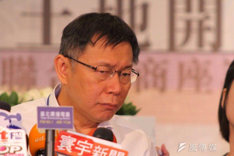 台北市長柯文哲推動「一條鞭管理」,但市議員們卻不買單。(資料照,曾原信攝)