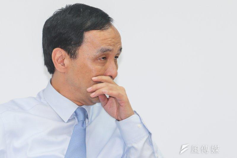 國民黨總統候選人朱立倫迄今選情尚無起色。(陳明仁攝)
