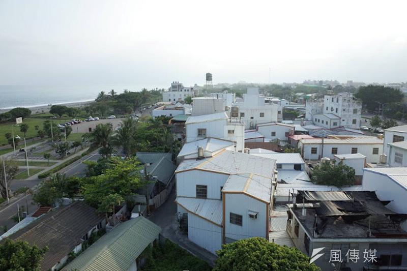 濱海地區的俯瞰圖。(作者提供)