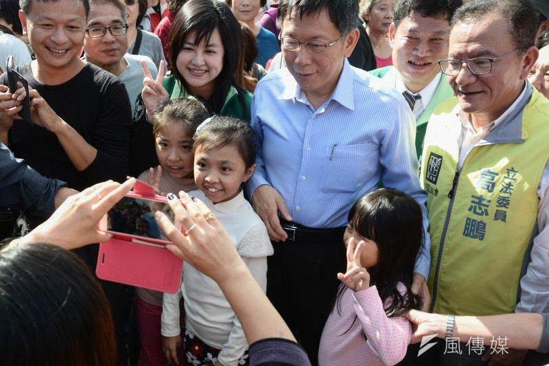 柯文哲6日出席2015返老還童路跑活動(資料照片。林俊耀攝)