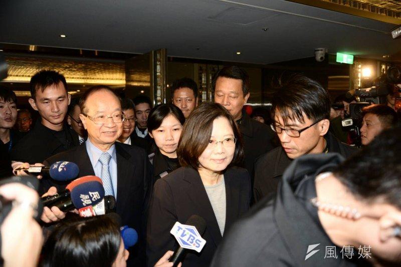 民進黨總統候選人蔡英文出席生物經濟產業國際策略峰會。(林俊耀攝)