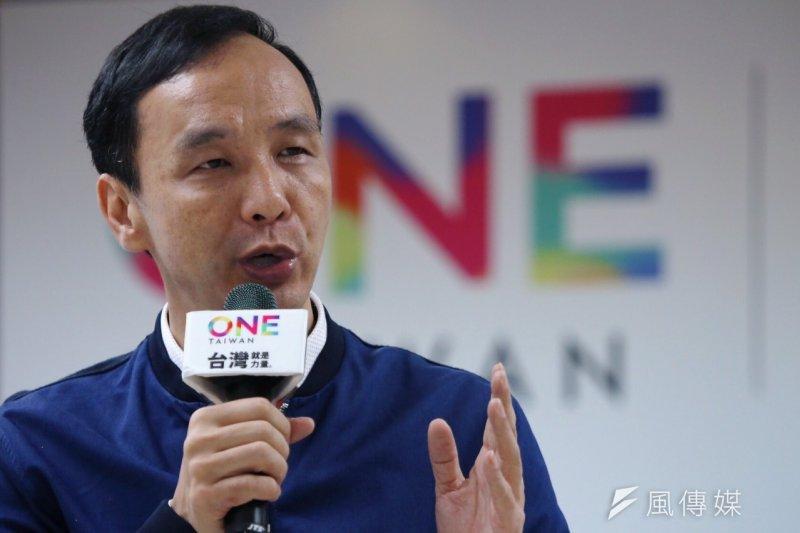 朱立倫28日在台東出席黨務辦公室公益活動簽署及捐贈記者會時表示,這就是國民黨做公益、革新的決心,未來還會持續做下去。(資料照,蔡耀徵攝)