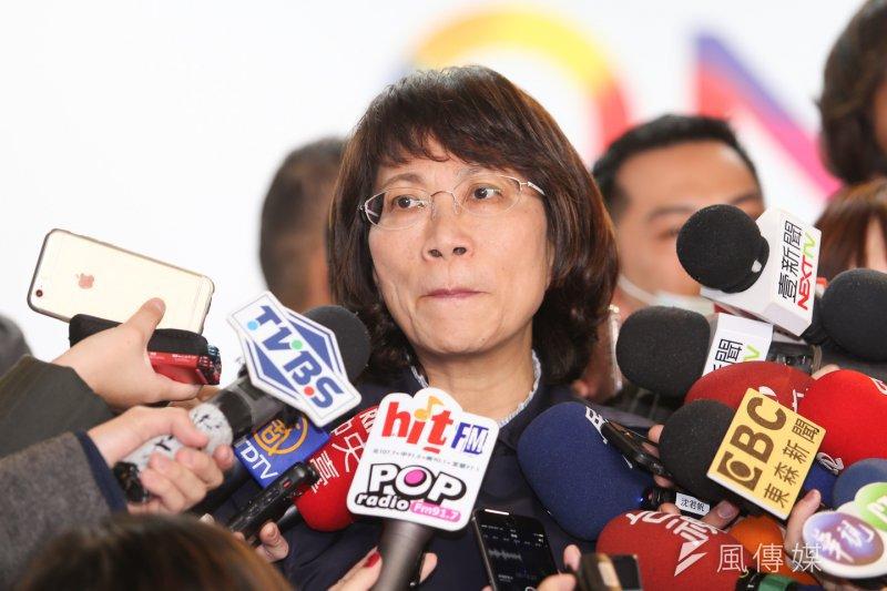 國民黨副總統候選人王如玄20日接受媒體訪問時,對副總統辯論會表示,她將展開集訓,內容會以政策為重點。(資料照片/陳明仁攝)