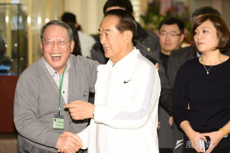 宋楚瑜在臉書貼文關心寒害。(資料照,林俊耀攝)