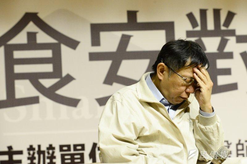 台北市長柯文哲以「反省」短片度過就任一周年。(資料照/林俊耀攝)