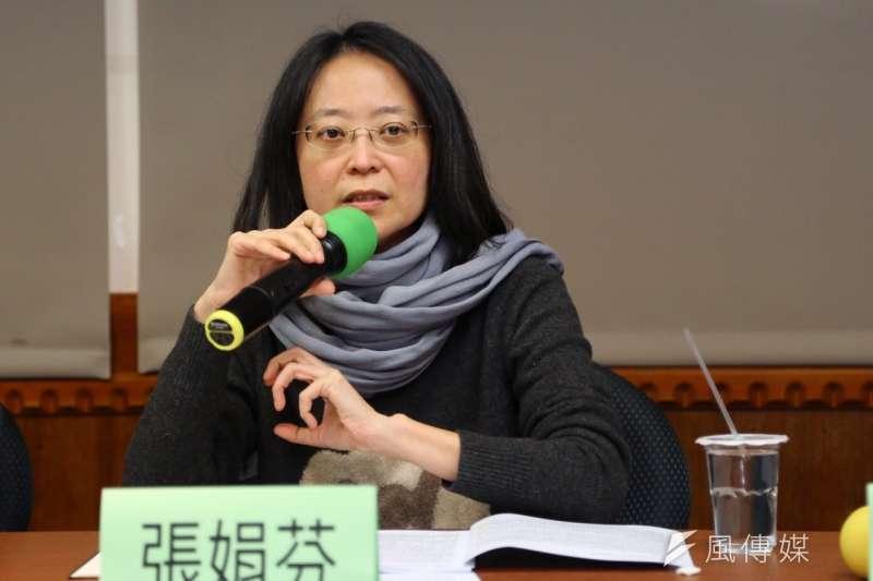 廢死聯盟台灣死刑判決報告記者會,作家張娟芬。(蔡耀徵攝)
