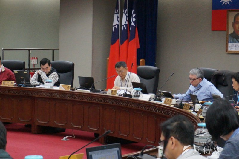 台北市長柯文哲23日主持台北市公共安全督導會報。(王彥喬攝)