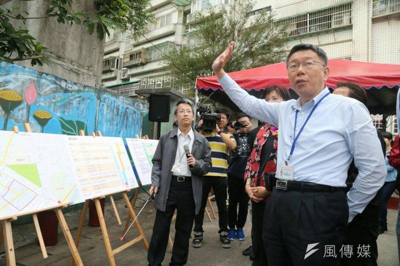 台北市萬華青年公宅開工動土典禮,台北市長柯文哲出席。(陳明仁攝)