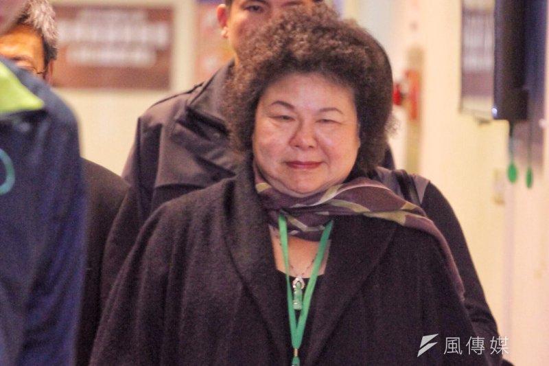 蔡英文27日電視辯論會中,提到陳菊當年在美麗島事件入獄寫下的遺書,陳菊28日於臉書表示,當時面對可能的審判,無畏無懼,唯一牽掛的只有台灣的未來。(曾原信攝)
