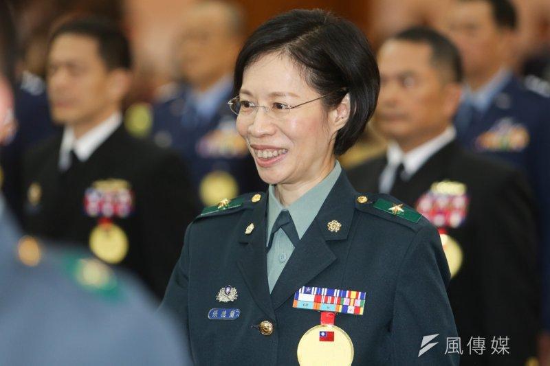 國安局出現了首位女性少將張德蘭,同時也是國軍史上第8位女少將。(陳明仁攝)