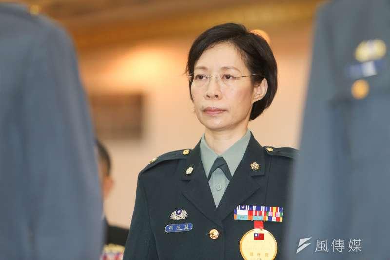 20151229-105年上半年國軍將領晉升典禮.國安局首位女少將張德蘭(陳明仁攝)