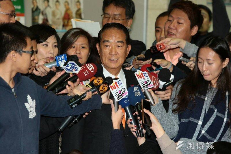 親民黨總統候選人宋楚瑜表示,朱立倫今天突然覺得要辯論,那太好了!我非常同意!(顏麟宇攝)