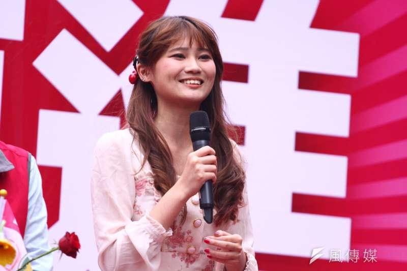 綠黨社會民主黨聯盟(綠社盟)選前最後一場造勢大會10日下午在台北市舉行,賴品妤出席(曾原信攝)