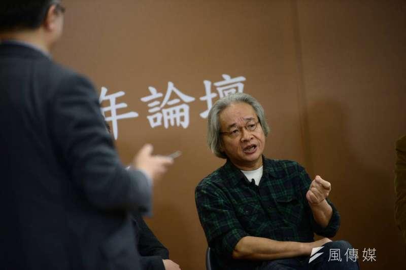 BBC中文網、風傳媒舉辦台灣大選兩岸三地青年論壇,馮光遠(林俊耀攝)