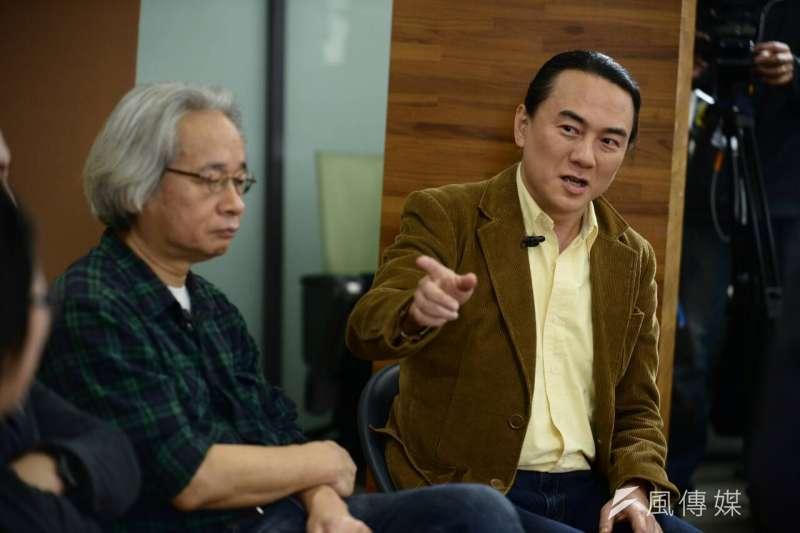 BBC中文網、風傳媒舉辦台灣大選兩岸三地青年論壇,馮光遠、翟本喬(林俊耀攝)