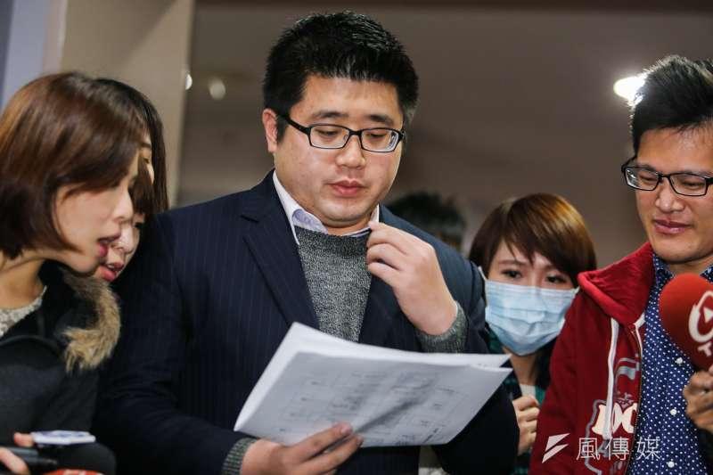 北市府發言人林鶴明針對三井倉庫發表看法。(資料照片,陳明仁攝)