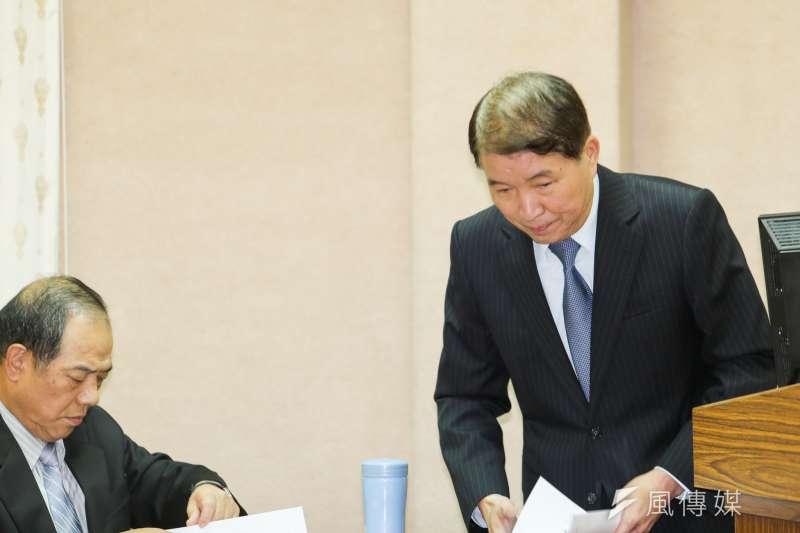 立委要求國防部長國防部長高廣圻為憲兵濫權搜索案道歉。(陳明仁攝)