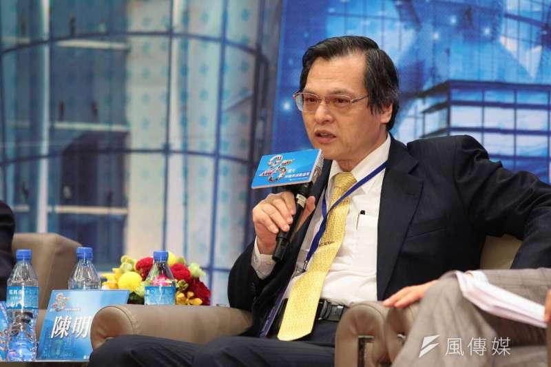 海基會揭牌運作25周年活動,前陸委會主委陳明通出席。(顏麟宇攝)