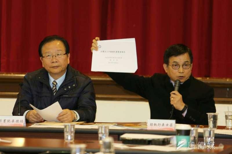 國民黨立法院黨團決定要求黨中央捐出黨產(陳明仁攝)