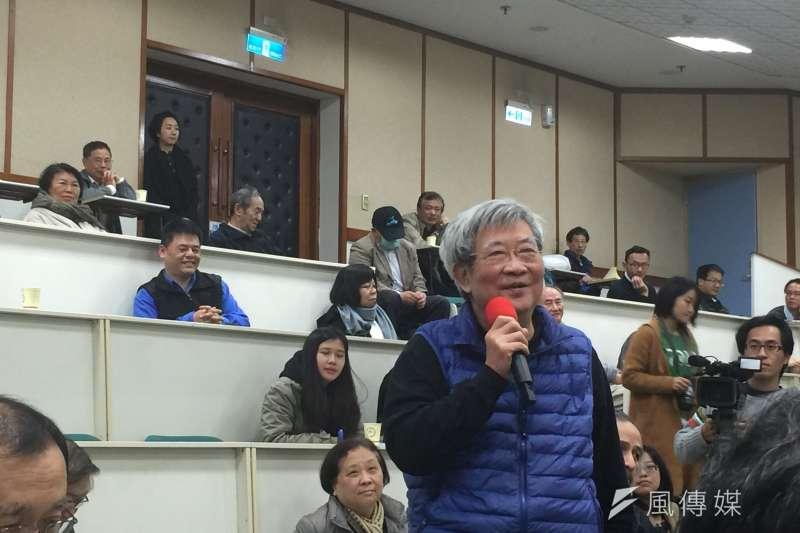 世新大學教授王曉波出席保釣運動者林孝信先生的追思會。(資料照,吳友友攝)