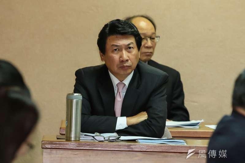 調查局長汪忠一於司法法制委員會備詢。(顏麟宇攝)