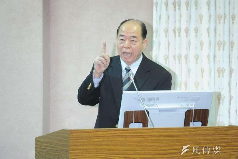 國安局長楊國強17日赴立院備詢。(林俊耀攝)