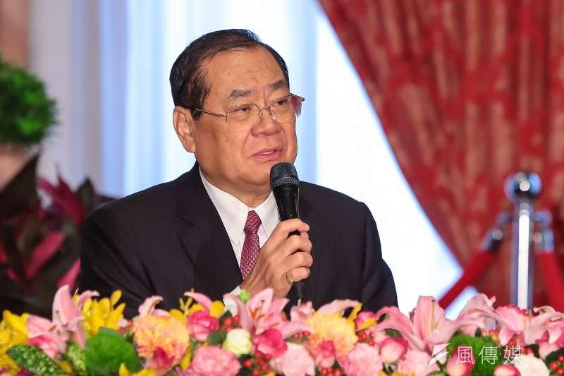 總統秘書長曾永權於雙英會後召開記者會。(顏麟宇攝)