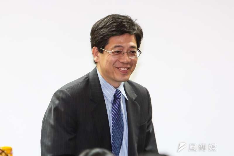 前移民署長謝立功3日搶先登記藍營基隆市長初選。(資料照,顏麟宇攝)