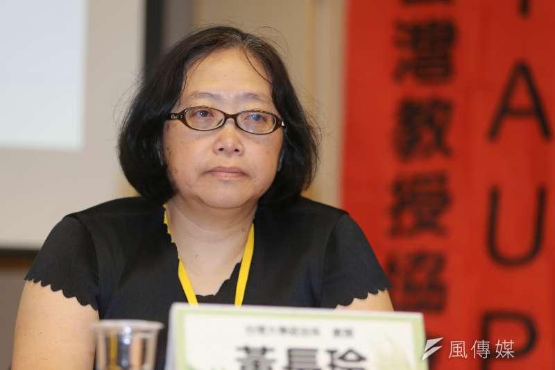 台灣大學政治系教授黃長玲稱將出國進修一年,因而辭去校長遴選委員一職。(資料照,陳明仁攝)