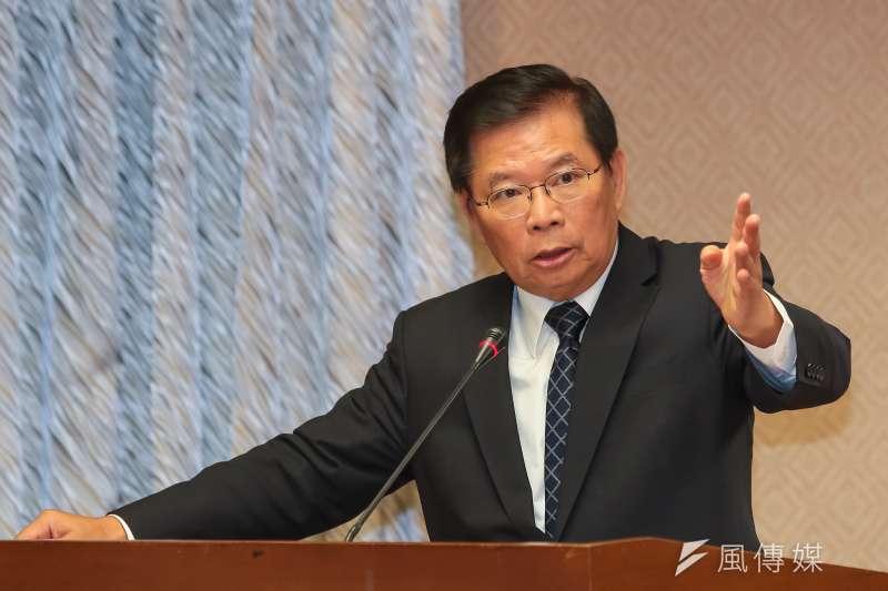 行政院秘書長簡太郎27日至內政委員會備詢。(顏麟宇攝)