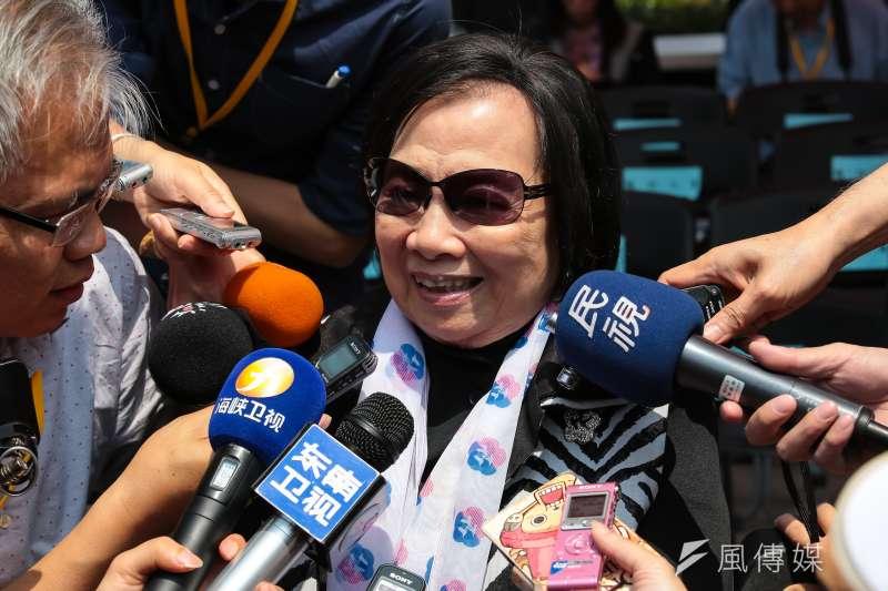 婦聯會前主委辜嚴倬雲在今(28)日開庭前突然向法院聲請停止執行處分。(資料照,顏麟宇攝)