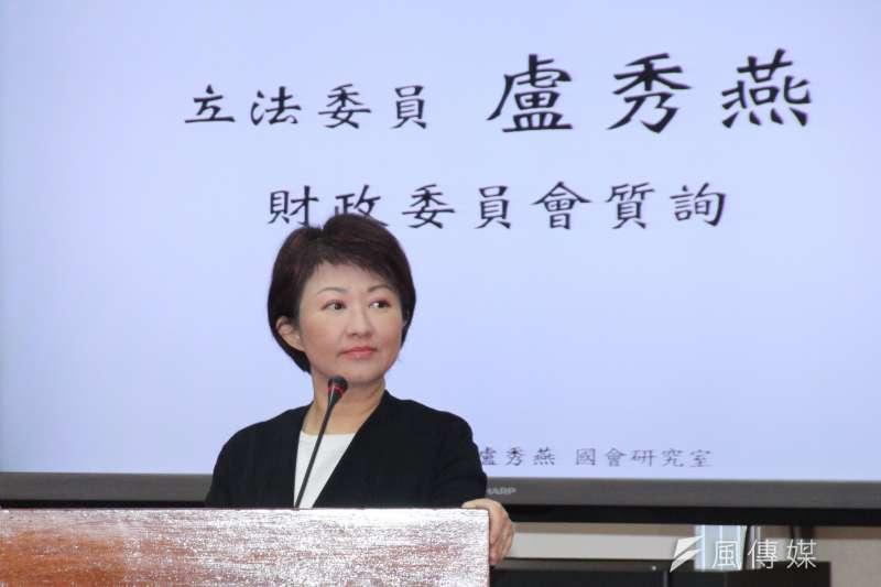 國民黨籍立委盧秀燕今(4日)於台中服務處召開記者會,再次表達參選台中市長的信心。(資料照,王德為攝)