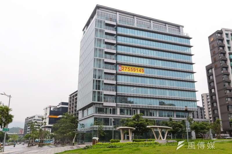 卸任總統馬英九於內湖的辦公大樓。(顏麟宇攝)