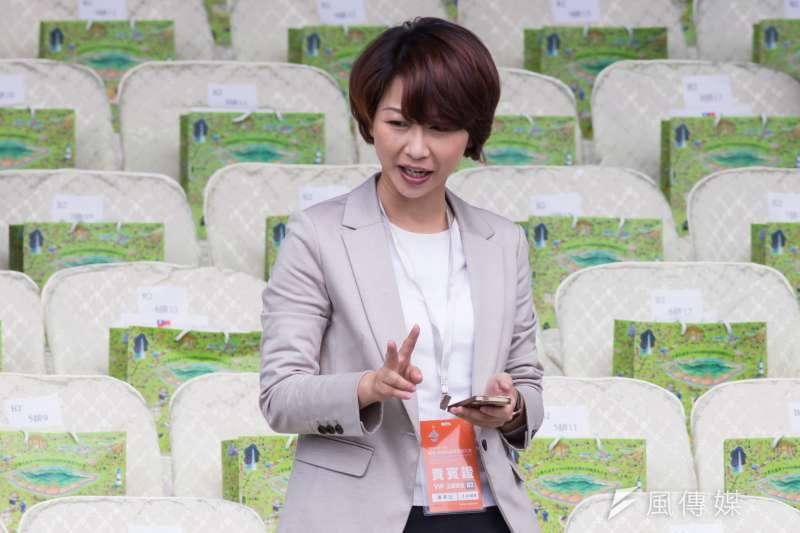 身為六年級生的陳亭妃,父親是前台南市議員,她從小就對政治充滿熱忱。(資料照,顏麟宇攝)