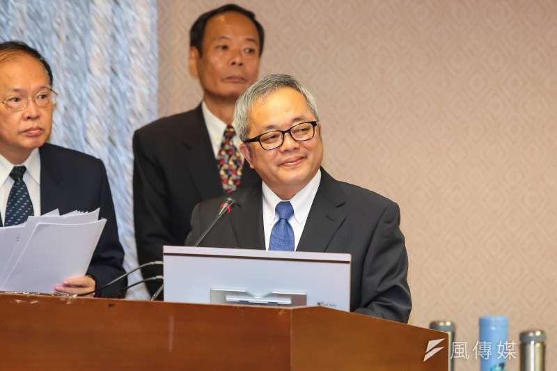 即將接任行政院副院長的施俊吉回應稅改問題。(資料照片,顏麟宇攝)