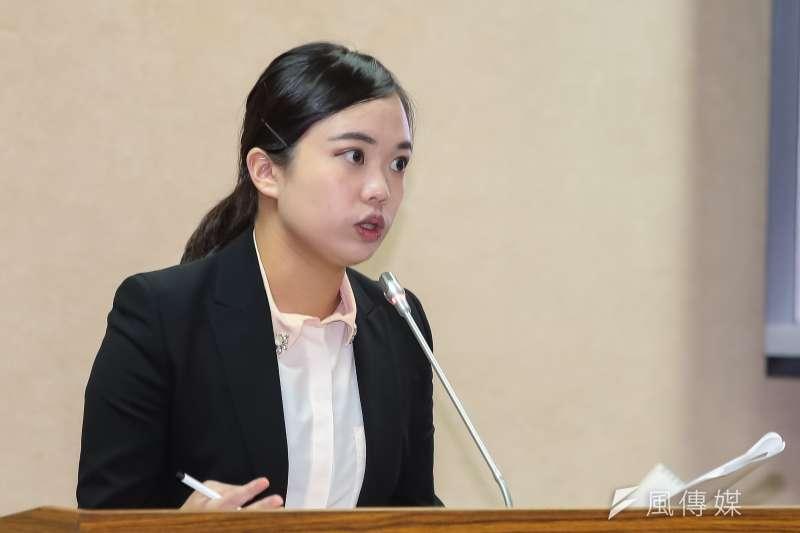 民進黨立委呂孫綾25日於外交國防委員會質詢。(顏麟宇攝)